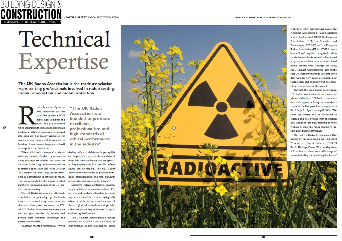 BDC Magazine Radon Feature