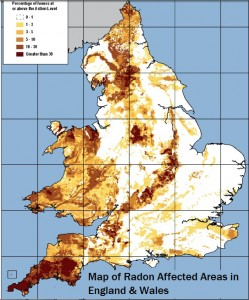 Map of UK Radon Affected Areas