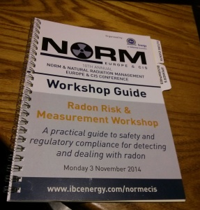 UK Radon Association NORM Radon Risks Workshop