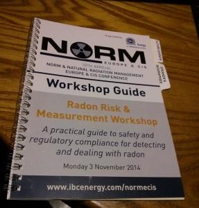 UK Radon Association NORM Radon Risks Workshop
