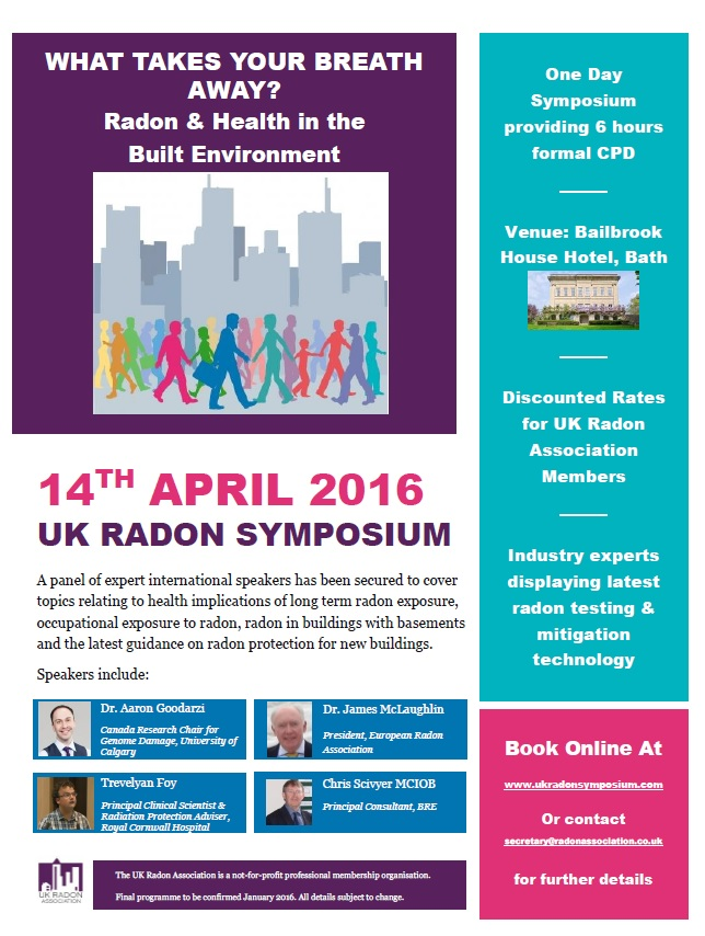 UK Radon Symposium Flyer