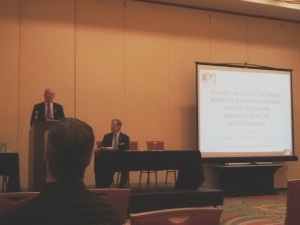 UK Radon Association Chairman, Martin Freeman, speaking at the International Radon Symposium