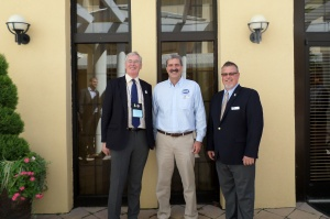 Martin Freeman with AARST President Shawn Price (left) and former Vice President David Kapturowski