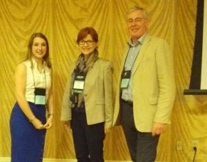 UKRA Chairman Martin Freeman & Secretary Rebecca Coates with Janice Nolen of American Lung Association (centre)